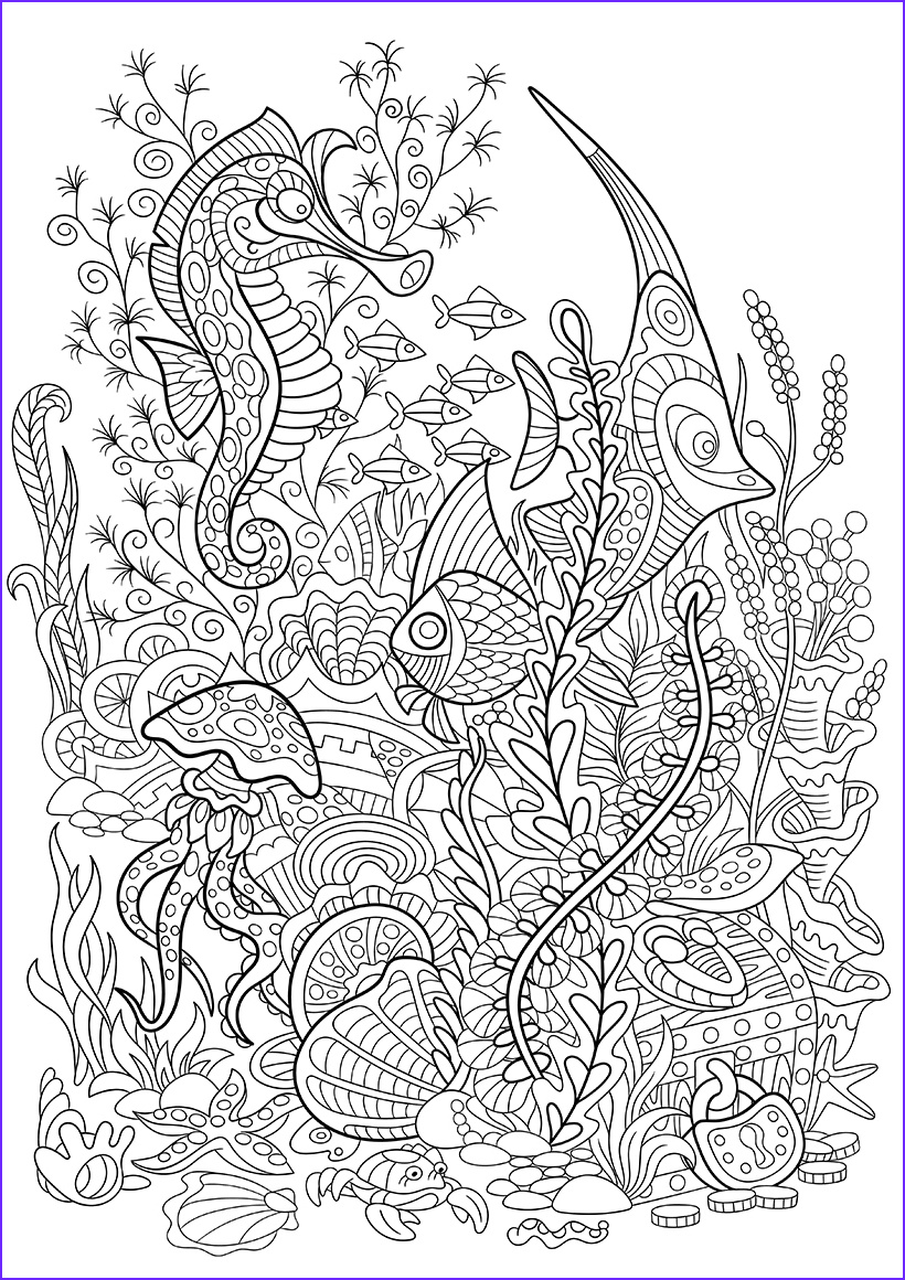 seabed coloring pages