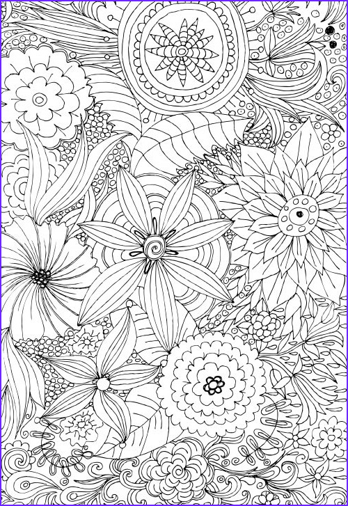 advanced flower coloring pages 2