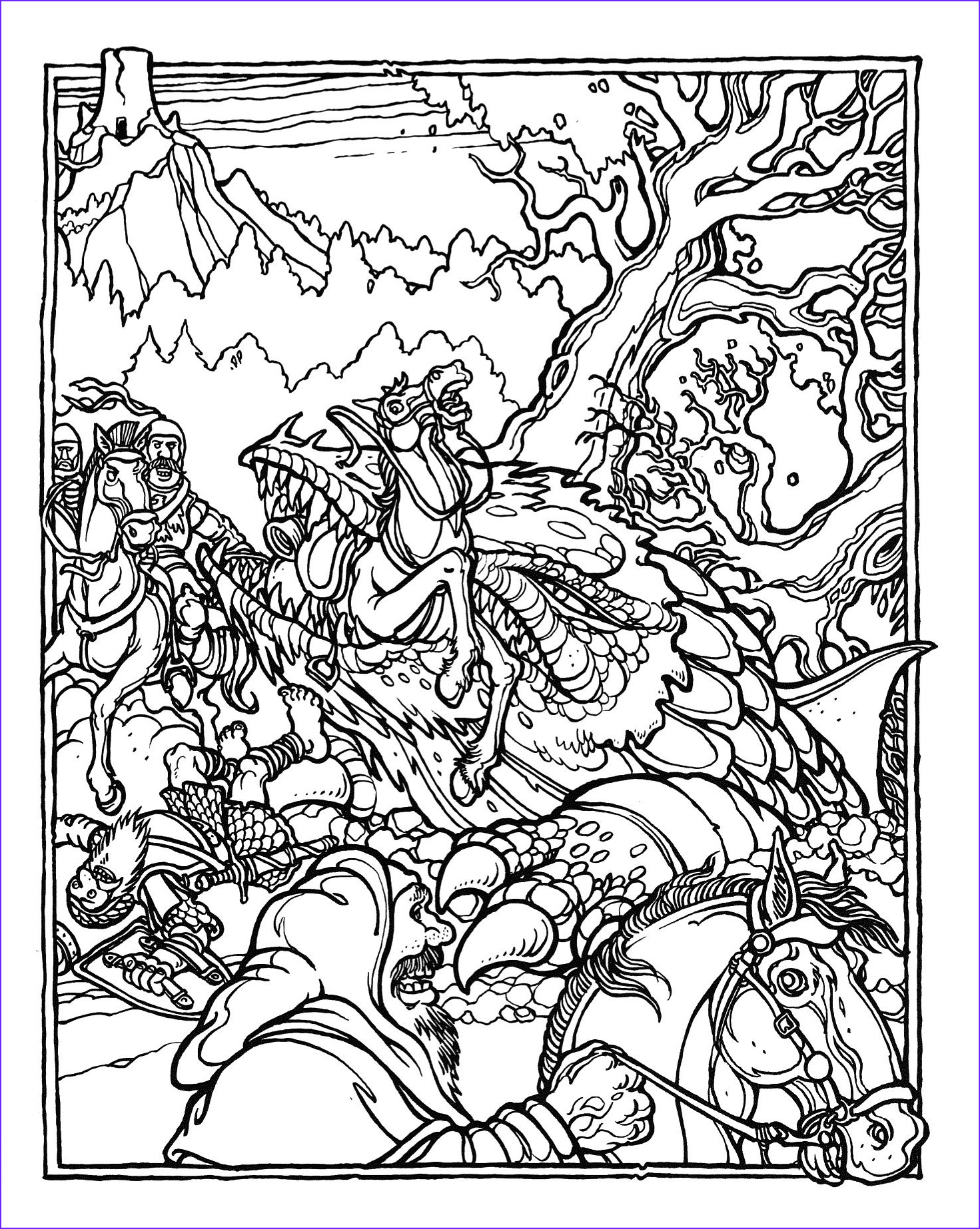 Advanced Coloring Pages Unique Photos the Ficial Advanced Dungeons and Dragons Coloring Album