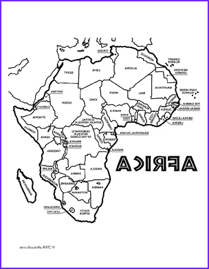 Africa Coloring Pages Beautiful Collection Coloring Page Of Map Of Africa Coloring Pages