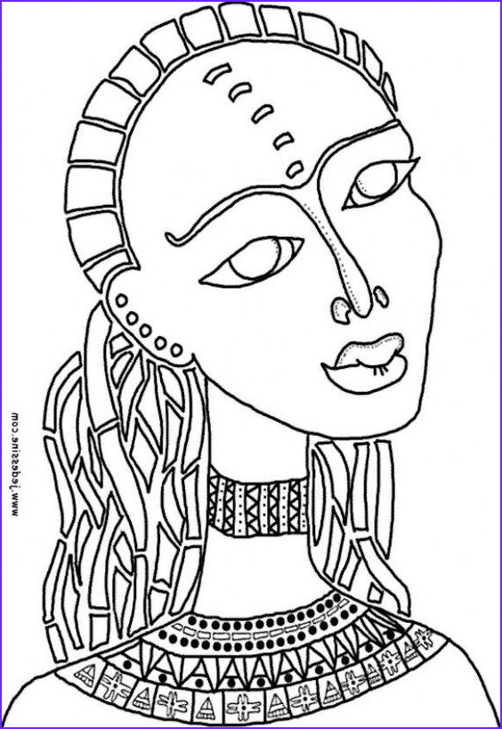Africa Coloring Pages Beautiful Photos African Color Sheets for Kids