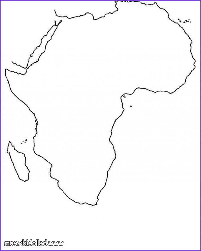 Africa Coloring Pages Unique Gallery Africa Map Coloring Pages Hellokids