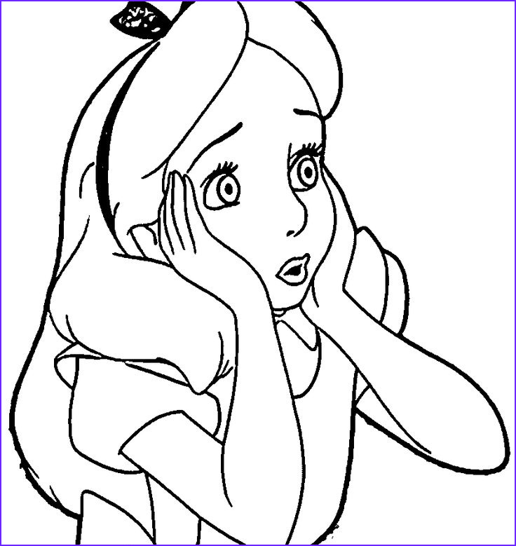 Alice In Wonderland Coloring Awesome Photos Alice In the Wonderland Coloring Pages