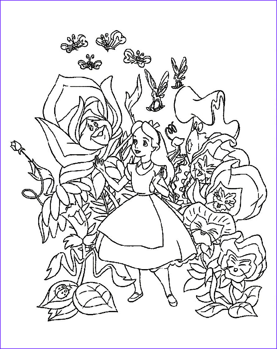 Alice In Wonderland Coloring Cool Photos Pin by Erica Moeser On Lucy S 3rd Birthday