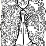 Alien Coloring Book Beautiful Collection Alien Trippy Printable Coloring Page Free