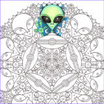Alien Coloring Book New Image Mandala Coloring Page Little Green Friends Printable