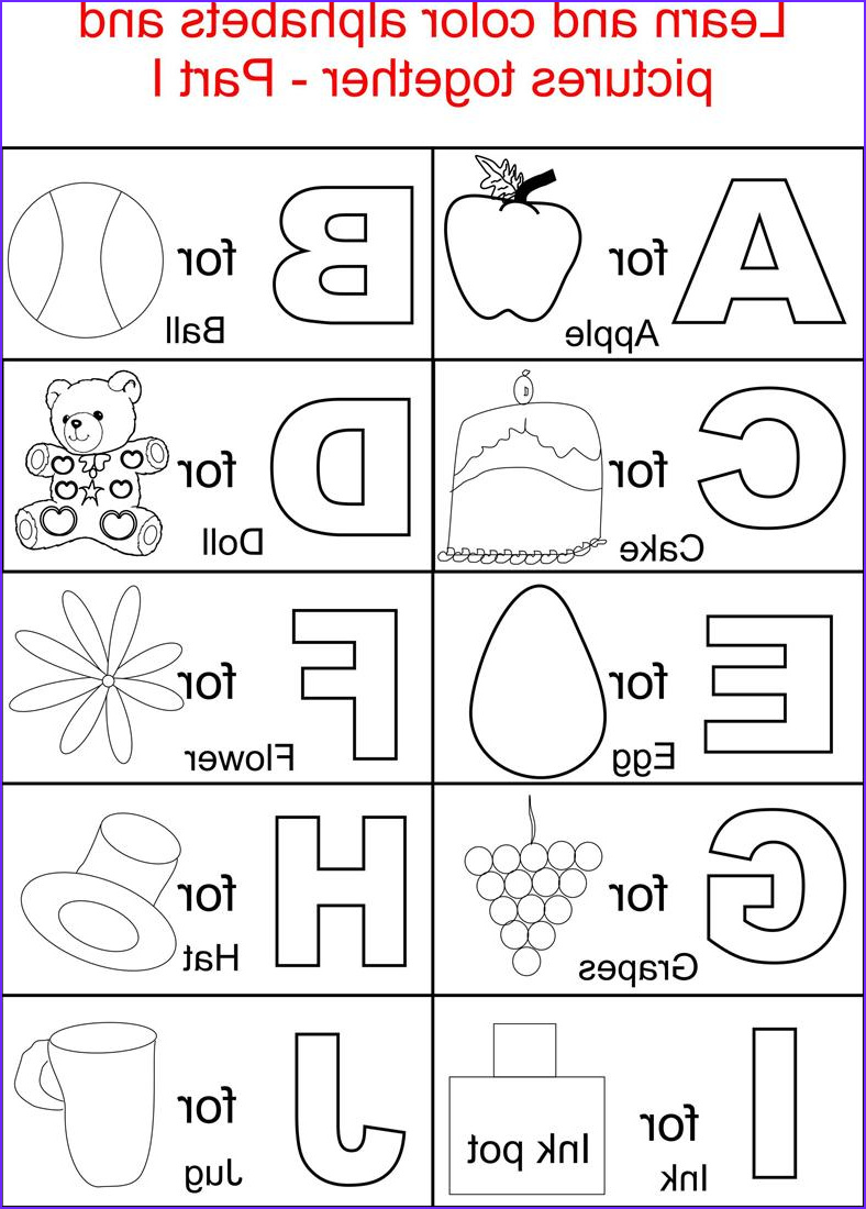 Alphabet Coloring Books Beautiful Photography Alphabets Coloring Printable Pages for Kids