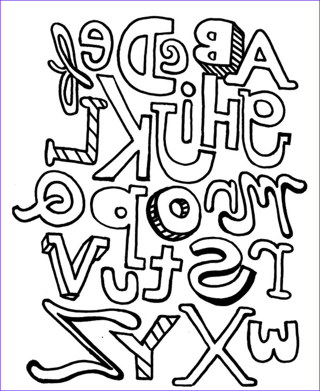 abc coloring pages