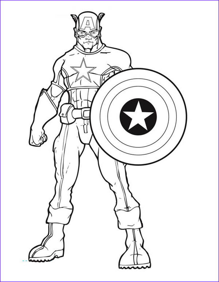America Coloring Pages Awesome Image Printable Captain America Coloring Pages