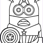 America Coloring Pages Awesome Stock Minion Captain America Coloring Page