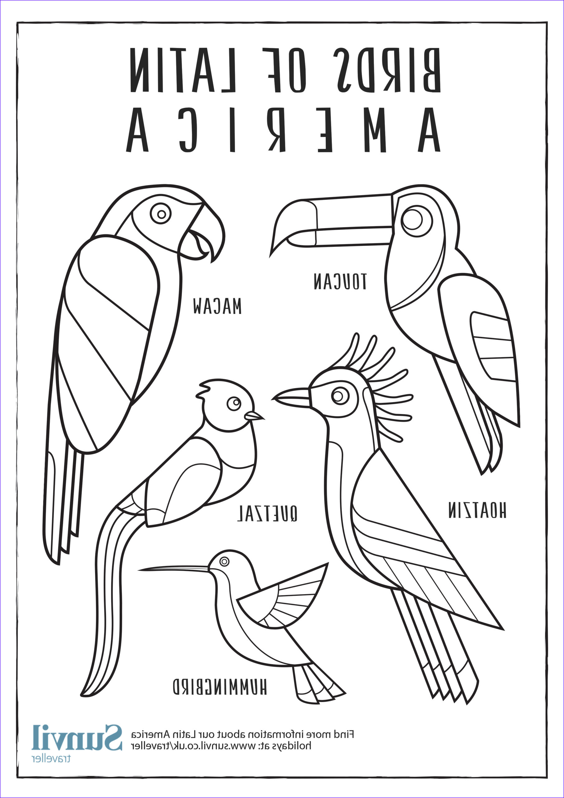 America Coloring Pages Beautiful Photos Birds Of Latin America – Colouring Page