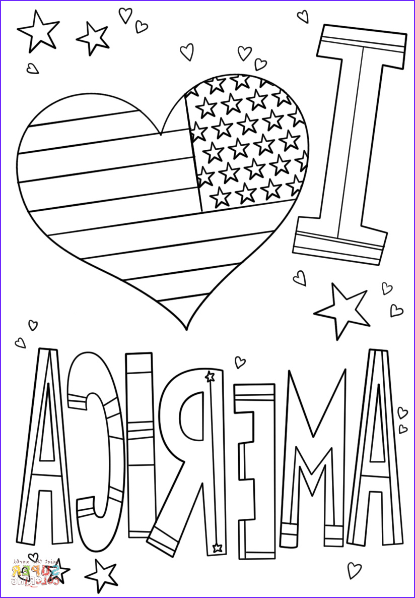 America Coloring Pages Beautiful Stock I Love America Coloring Page