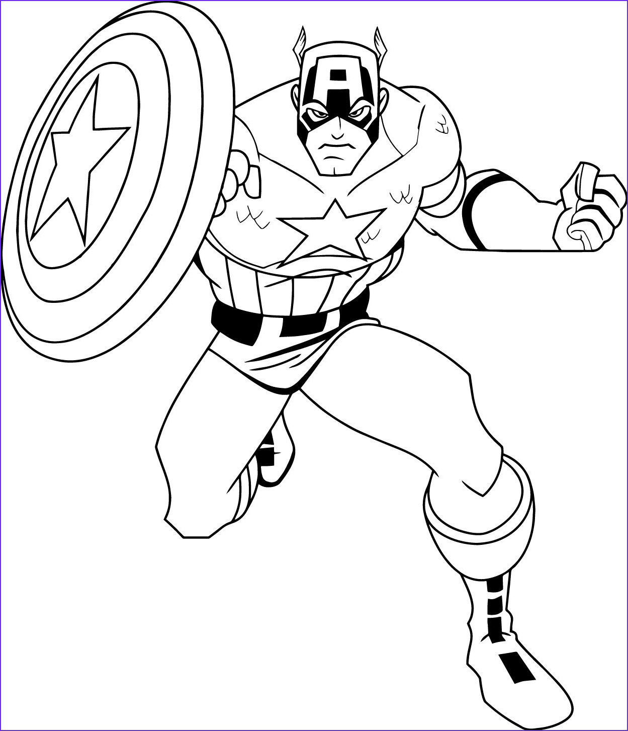 America Coloring Pages Cool Photos Captain America Coloring Pages