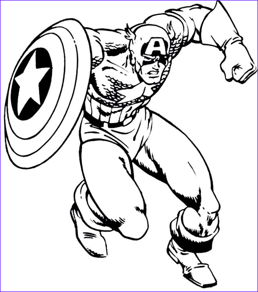 America Coloring Pages Elegant Photos Free Captain America Coloring Pages with to Print Archives
