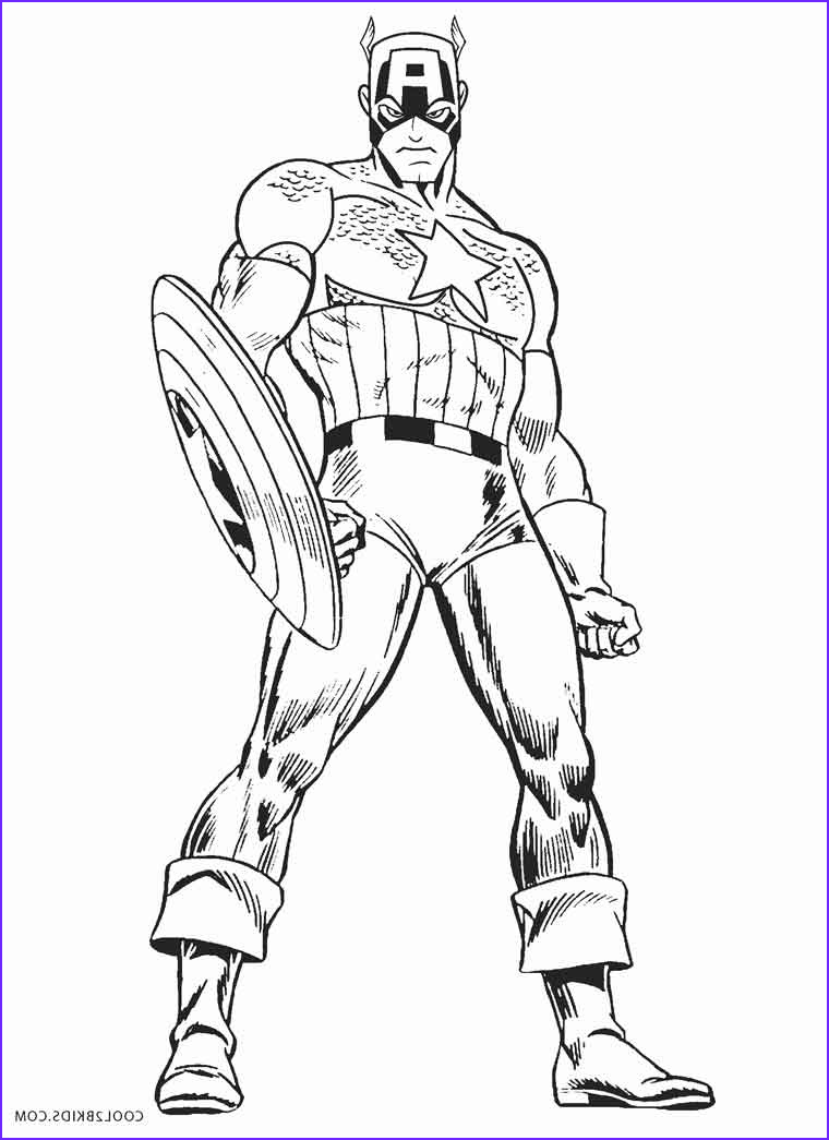 America Coloring Pages Inspirational Image Free Printable Captain America Coloring Pages for Kids