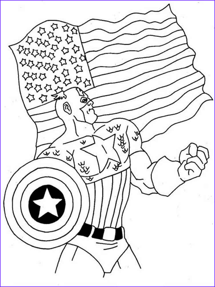 captain america coloring pages