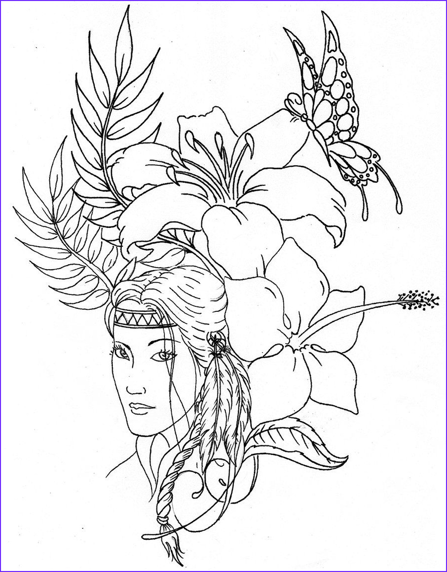 American Indian Coloring Pages Cool Collection Native American Coloring Pages Printable