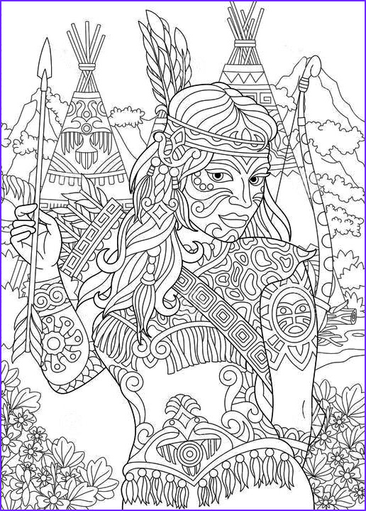 American Indian Coloring Pages Elegant Photography 881 Best Beautiful Women Coloring Pages for Adults Images