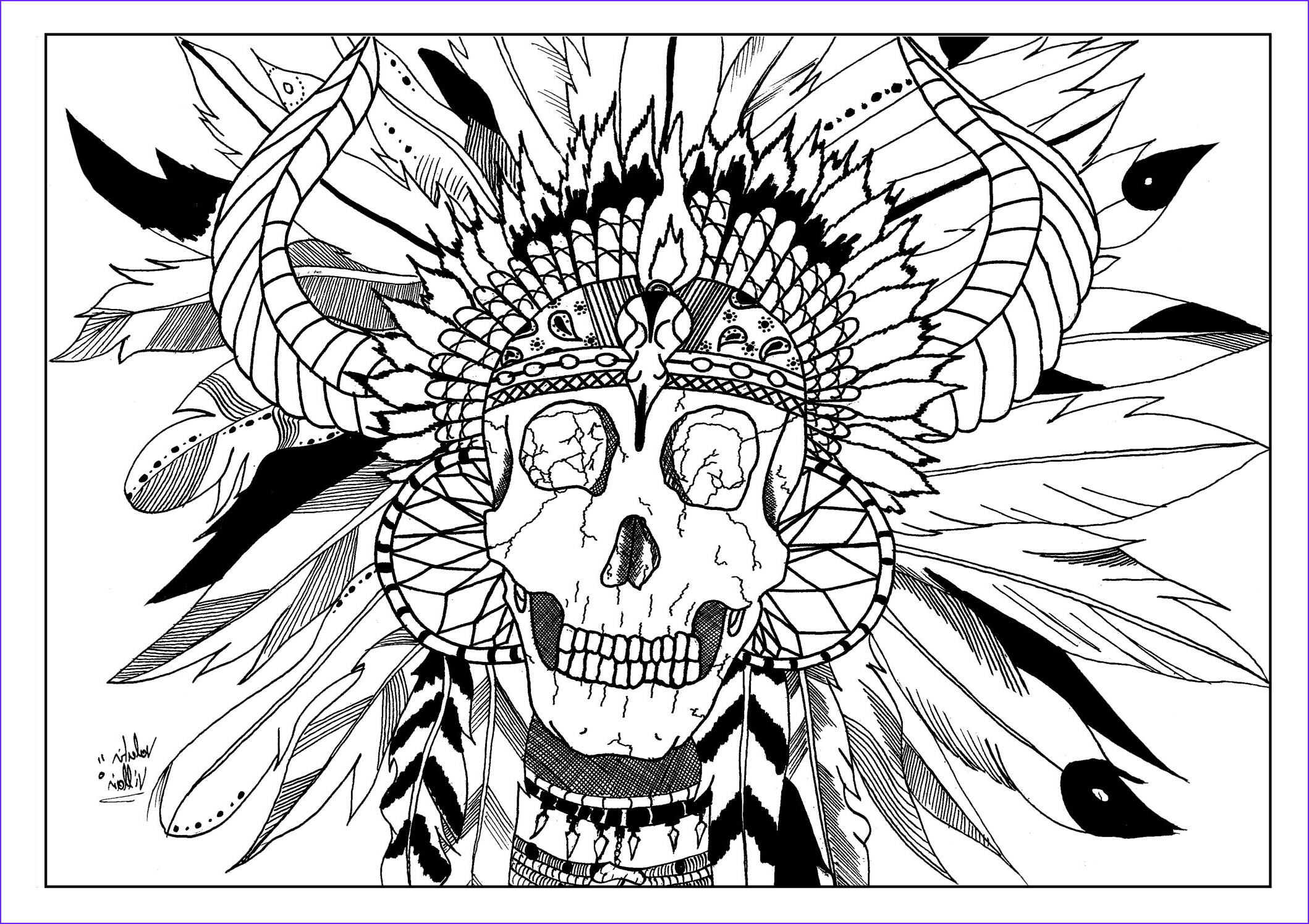 American Indian Coloring Pages New Collection Skull Indian Native American Adult Coloring Pages