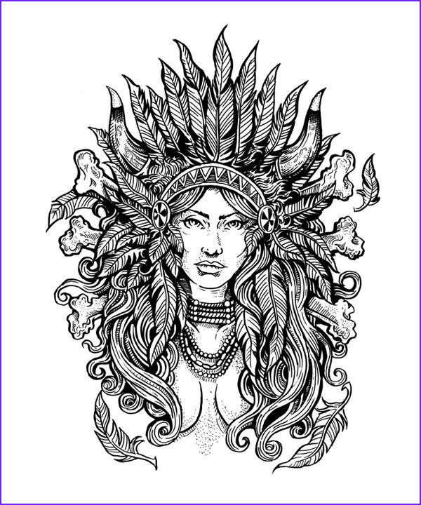 American Indian Coloring Pages New Photos Native American Difficult Coloring Pages