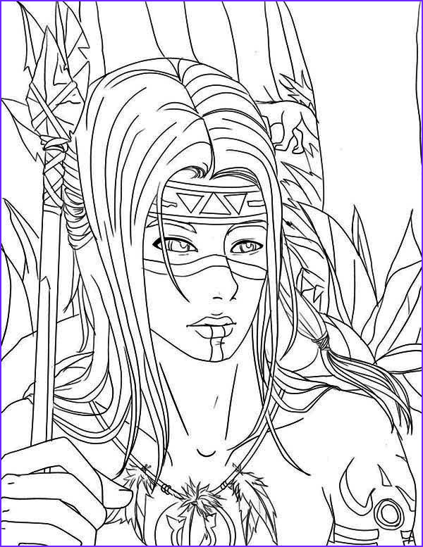American Indian Coloring Pages Unique Gallery Native American Warrior Coloring Page