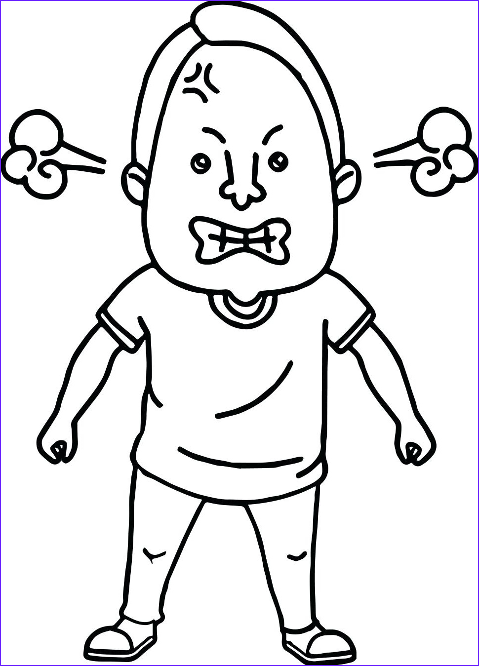 Anger Coloring Pages Inspirational Photos Angry Person Drawing at Getdrawings