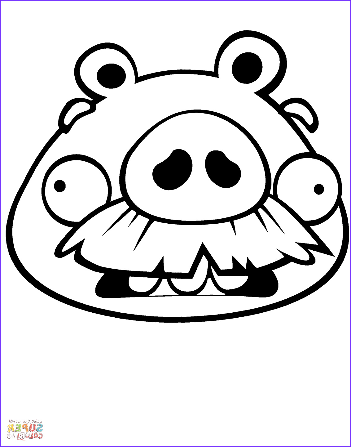 Angry Birds Coloring Book Cool Collection foreman Pig Coloring Page
