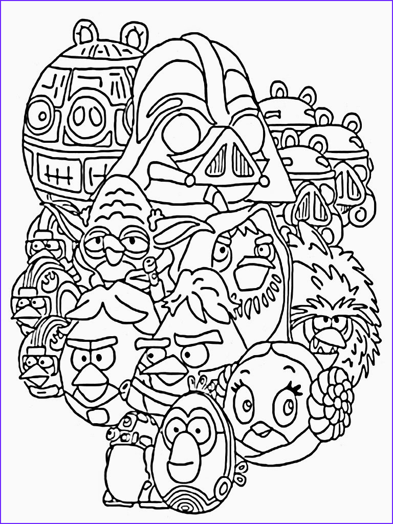 Angry Birds Coloring Book Luxury Photos Angry Birds Star Wars Coloring Pages Printable