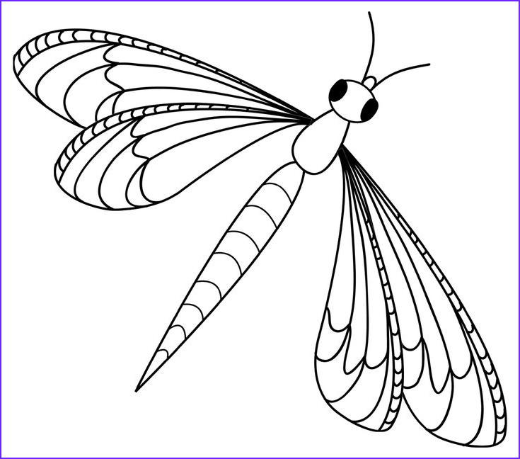 Animal Coloring Book For Kids Luxury Photos Dragonfly Clipart Free I0 1362×1200