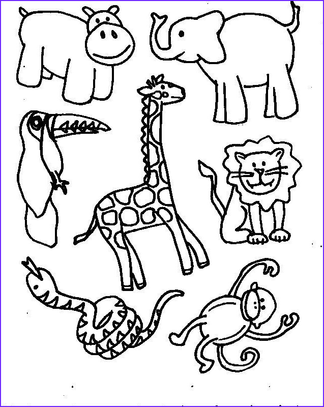 Animal Coloring Pages for Kids Best Of Collection Free Printable Jungle Animal Coloring Pages