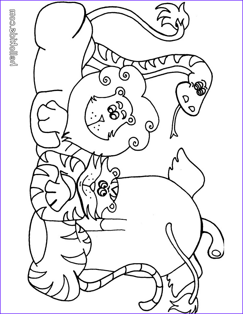 Animal Coloring Pages for Kids Unique Photos Wild Animal Coloring Pages Hellokids
