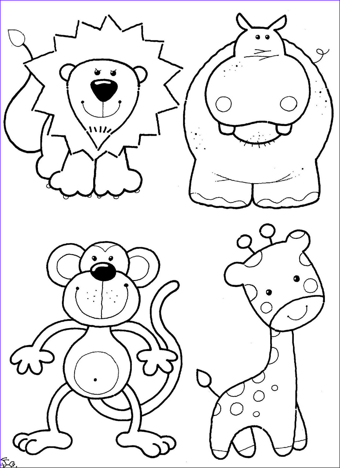 Animal Coloring Pages Printable Best Of Gallery Coloring Ville