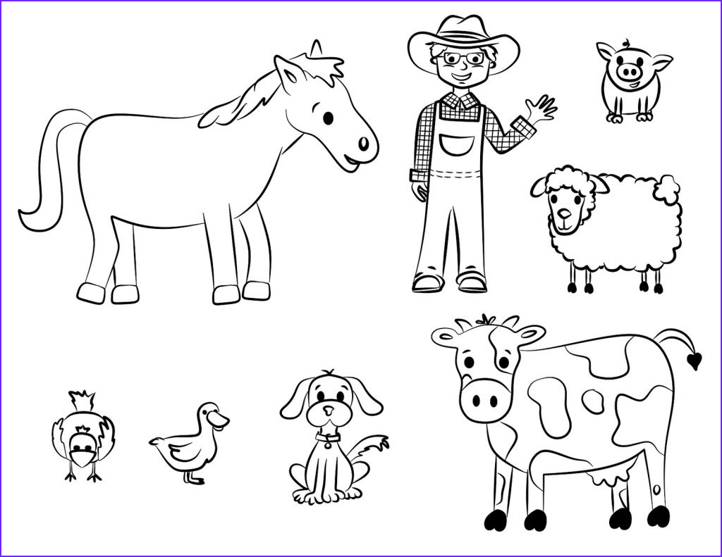 Animal Coloring Pages Printable Best Of Stock Free Printable Farm Animal Coloring Pages for Kids