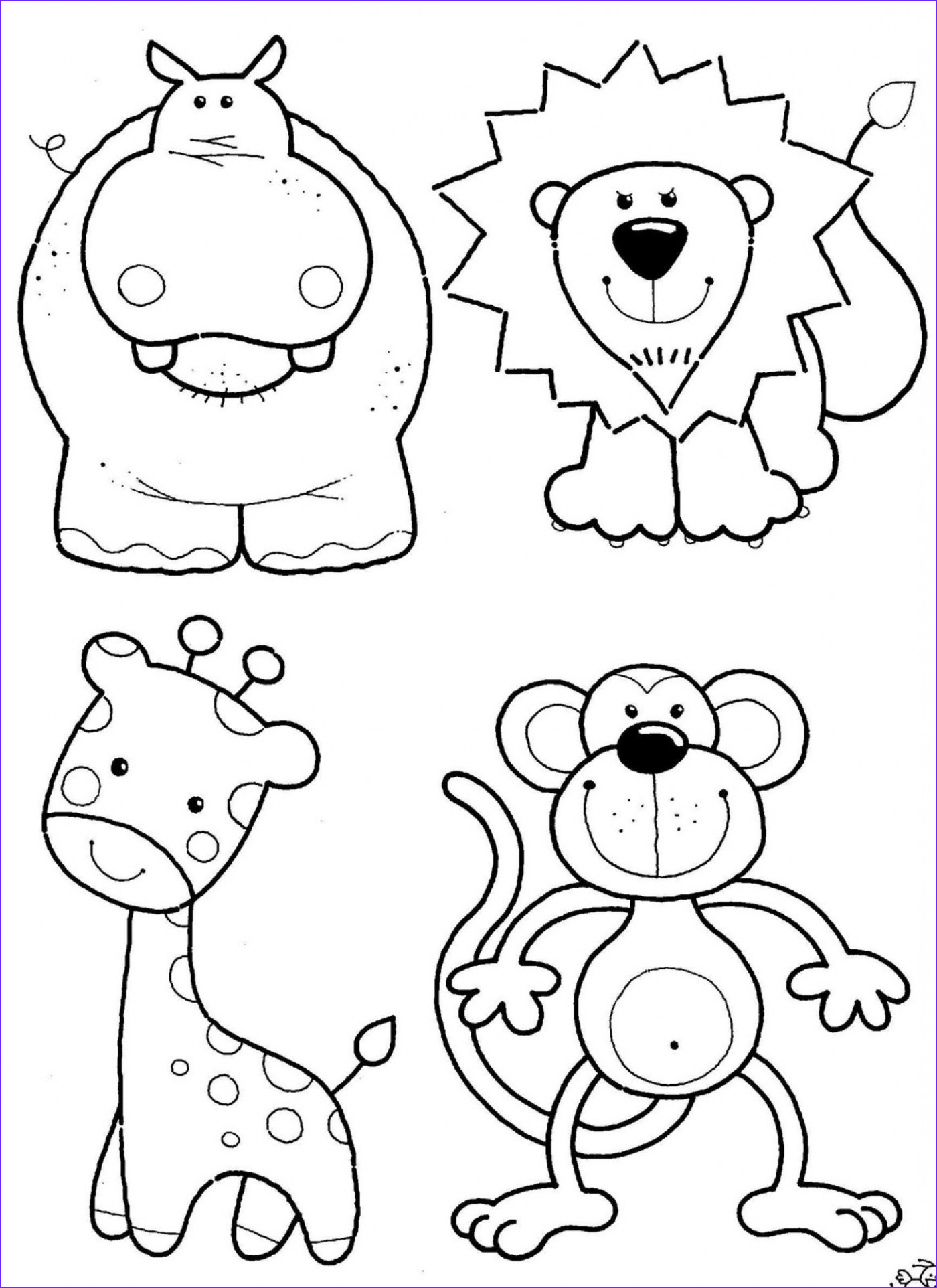 Animal Coloring Pages Printable Unique Photos Animal Coloring Pages 14