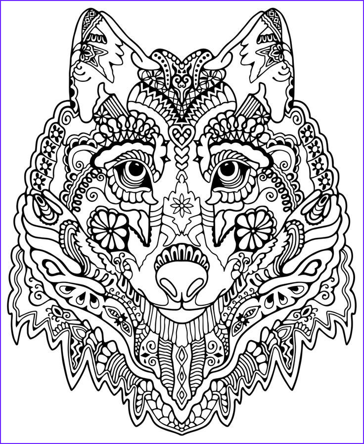 Animal Mandala Coloring Book Beautiful Photos Pattern Animal Coloring Pages and Print for Free