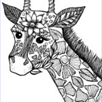 Animal Mandala Coloring Book Cool Collection Giraffe Adult Coloring Book Page