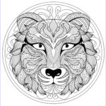 Animal Mandala Coloring Book Inspirational Collection Animal Mandala Coloring Pages Best Coloring Pages For Kids