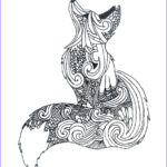 Animal Mandala Coloring Pages Awesome Gallery Zentangle Fox Art2