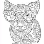Animal Mandala Coloring Pages Unique Stock Adult Coloring Page Book A Pig Zen Style Art Illustration