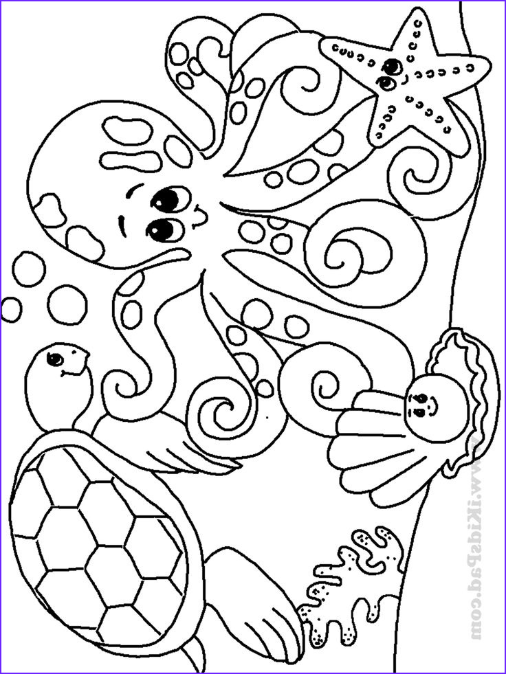 Animals Coloring Pages for Kids Unique Collection Free Printable Ocean Coloring Pages for Kids Coloring