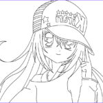 Animation Coloring Pages Beautiful Images Anime Girl Coloring Pages Coloringsuite