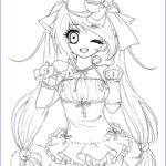 Animation Coloring Pages Beautiful Photos Anime Girl Coloring Pages Coloringsuite