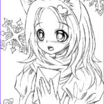 Anime Coloring Inspirational Gallery Cute Anime Catgirl Lineart By Liadebeaumont Coloring Pages