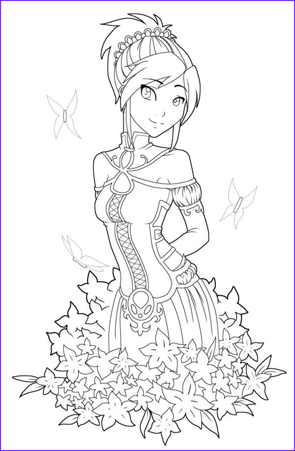 Anime Coloring Pages Printable Awesome Stock Free Printables Anime Style Characters Coloring Pages