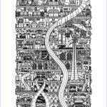 Architecture Coloring Book Awesome Collection Architecture City Vertical Architecture Adult Coloring Pages