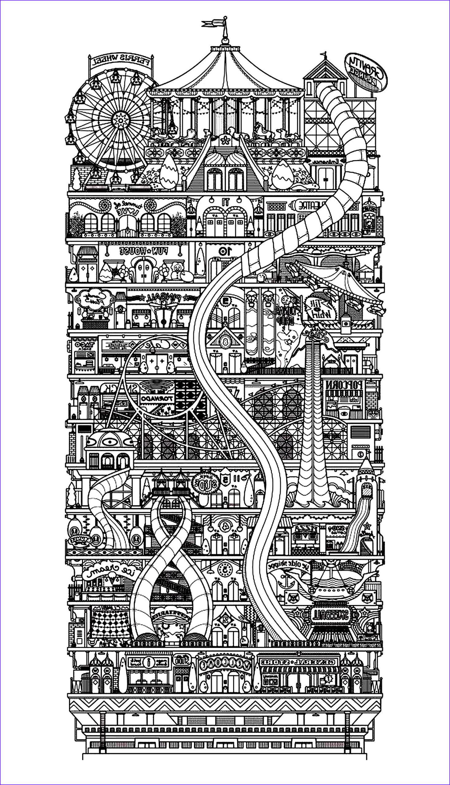image=architecture home coloring architecture city vertical 1