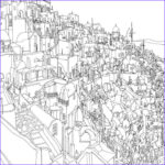 Architecture Coloring Book Awesome Photography Fantastic Cities An Exquisite Architectural Coloring Book