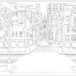 Architecture Coloring Book Beautiful Collection North America Street Architecture Adult Coloring Pages