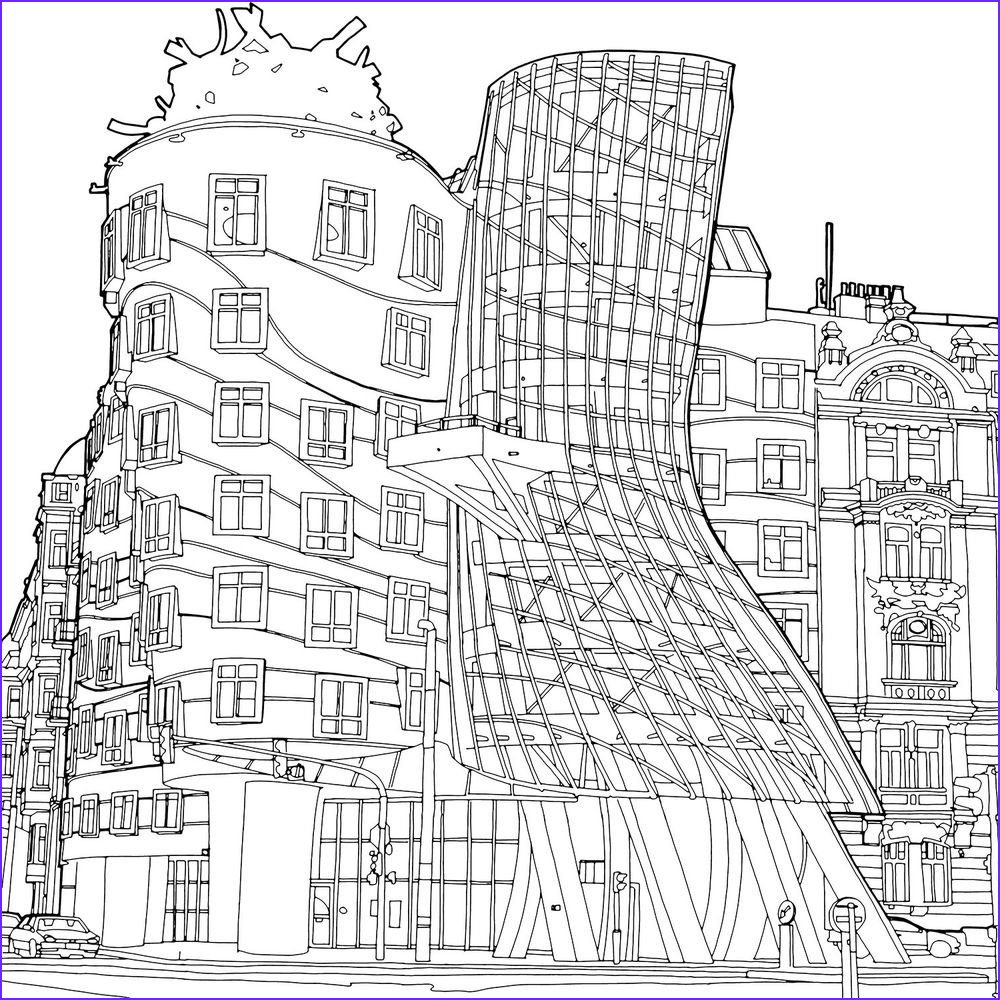 """Architecture Coloring Book Beautiful Gallery Wildblood Macdonald On Twitter """"adult Colouring Book"""