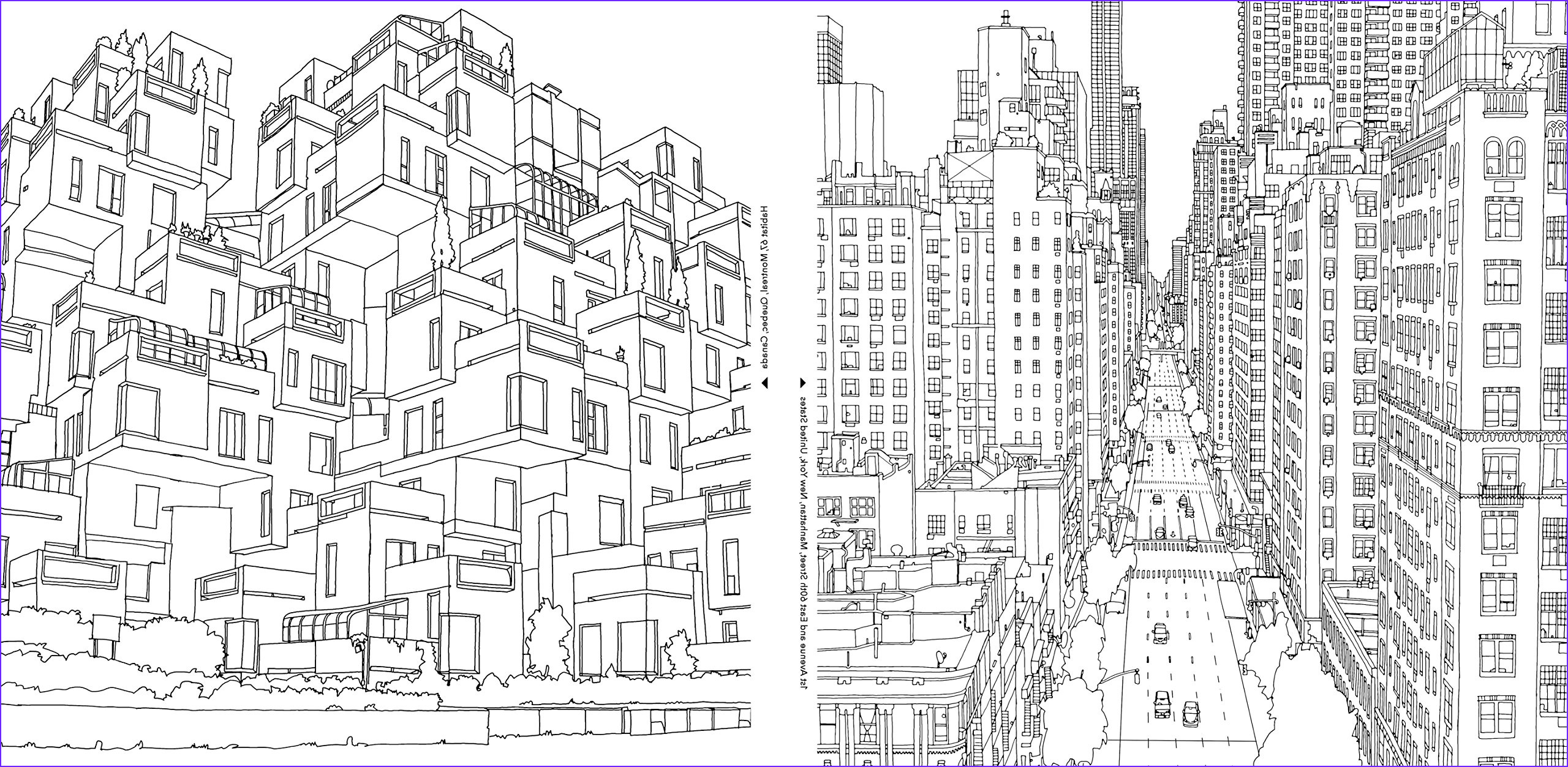 coloring books adults architecture